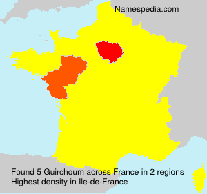 Surname Guirchoum in France