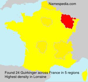 Surname Guirkinger in France