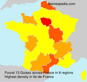Surname Guisez in France