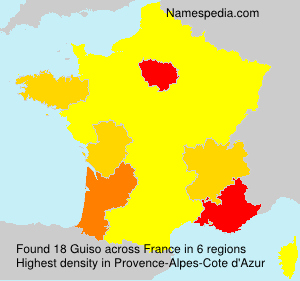 Surname Guiso in France