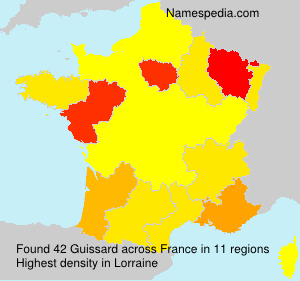 Surname Guissard in France