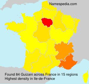 Surname Guizani in France