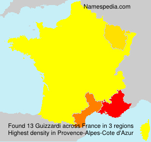 Surname Guizzardi in France