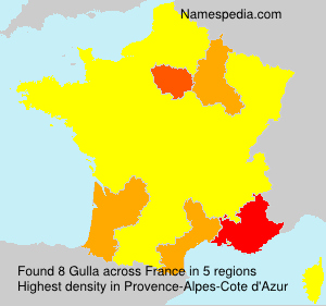 Surname Gulla in France