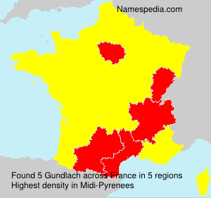Surname Gundlach in France