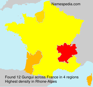 Surname Gungui in France