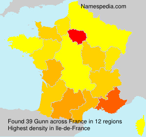 Surname Gunn in France