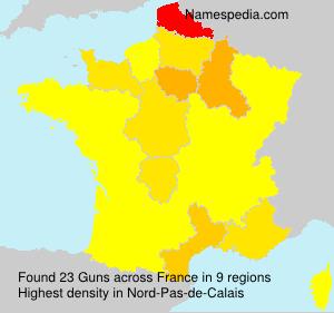 Surname Guns in France