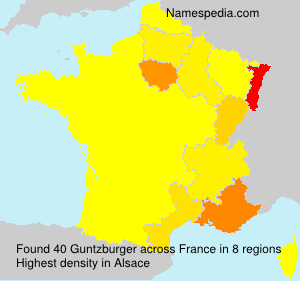 Surname Guntzburger in France