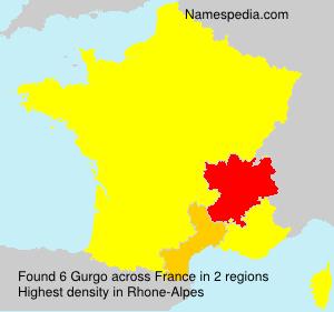 Familiennamen Gurgo - France