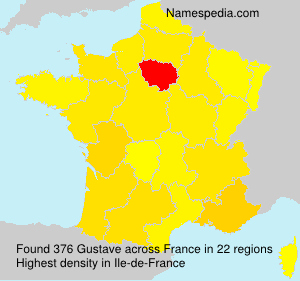 Surname Gustave in France
