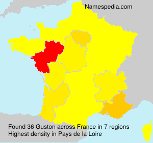 Surname Guston in France