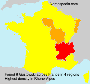 Surname Gustowski in France
