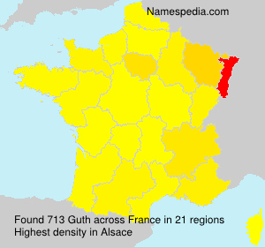 Surname Guth in France