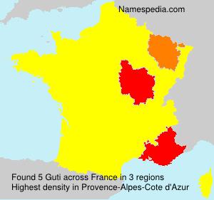 Surname Guti in France