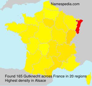 Surname Gutknecht in France