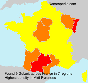 Surname Gutzeit in France
