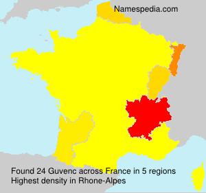 Familiennamen Guvenc - France