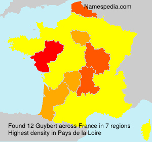 Surname Guybert in France
