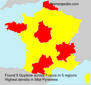 Surname Guylene in France