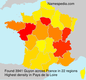 Surname Guyon in France