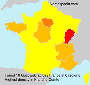 Surname Guzowski in France