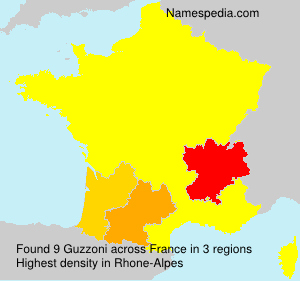 Surname Guzzoni in France