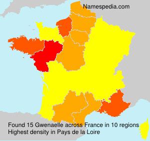 Familiennamen Gwenaelle - France