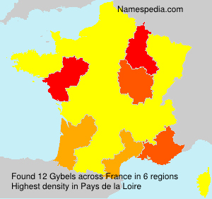 Surname Gybels in France