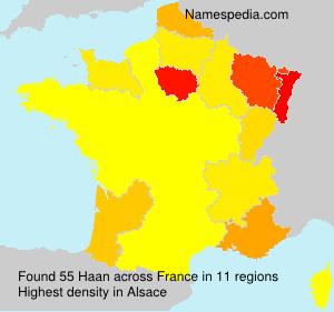 Familiennamen Haan - France