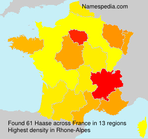 Surname Haase in France