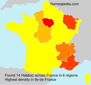 Surname Habbaz in France