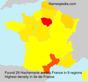 Surname Hachemane in France