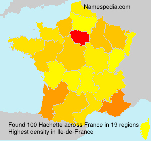 Surname Hachette in France