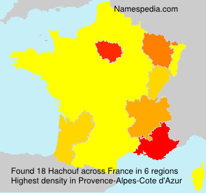Surname Hachouf in France