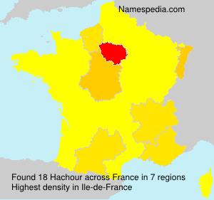 Familiennamen Hachour - France