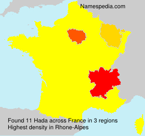Surname Hada in France