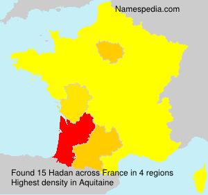 Familiennamen Hadan - France