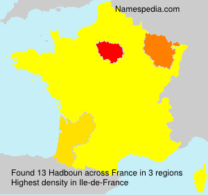 Surname Hadboun in France