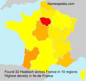 Surname Haddach in France