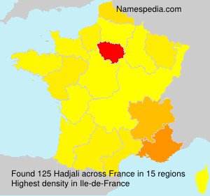 Surname Hadjali in France