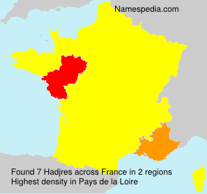 Surname Hadjres in France