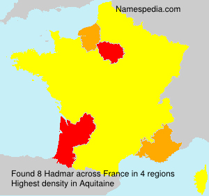 Surname Hadmar in France