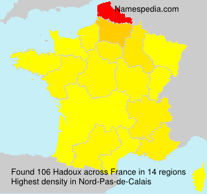 Surname Hadoux in France