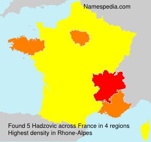 Familiennamen Hadzovic - France
