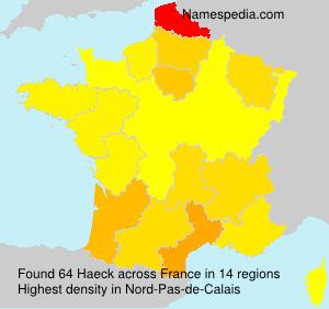 Surname Haeck in France