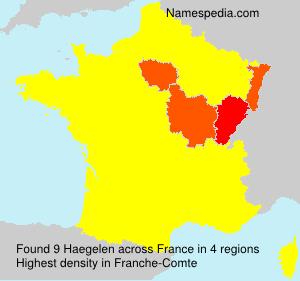 Familiennamen Haegelen - France