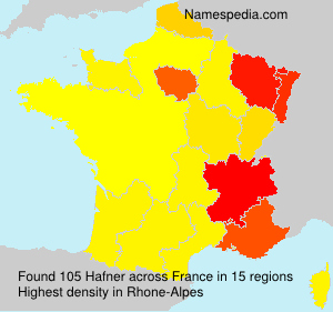 Surname Hafner in France