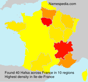 Surname Hafsa in France