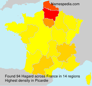 Surname Hagard in France